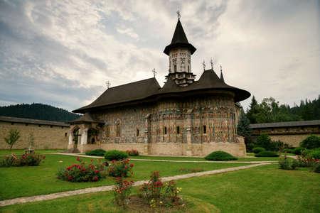 Sucevita orthodox monastery, Bucovina, UNESCO world heritage site Banco de Imagens