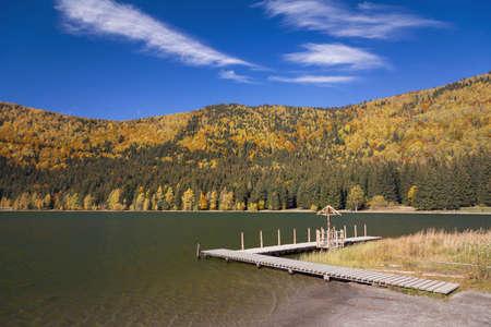 Beautiful autumn landscape in Transylvania Imagens