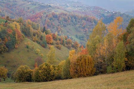 Beautiful autumn landscape in Transylvania Stock Photo