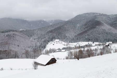 랜, 루마니아의 겨울 풍경