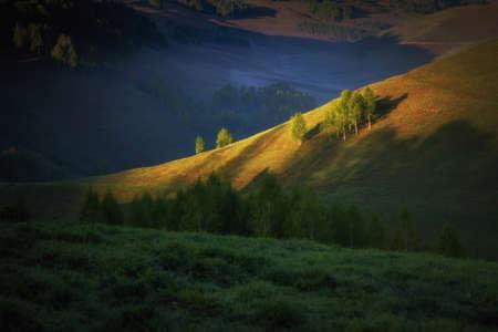 Beautiful summer sunrise in Transylvania 写真素材