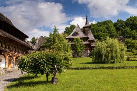 Summer view of Barsana Monastery - Romania Stockfoto