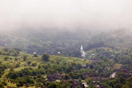 Summer view of Barsana Monastery - Romania - UNESCO World Heritage Site Stock Photo