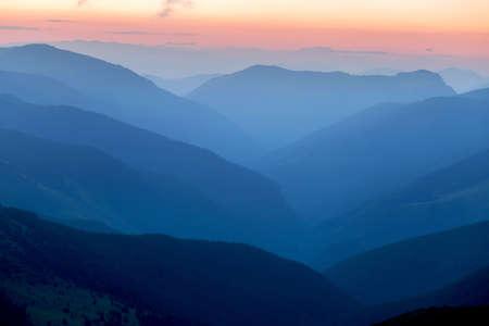 Summer sunrise in Parang Mountains, Romania