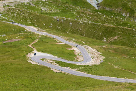 Summer view of Transalpina mountain road