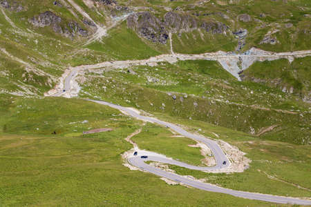 Transfagarasan mountain road 版權商用圖片