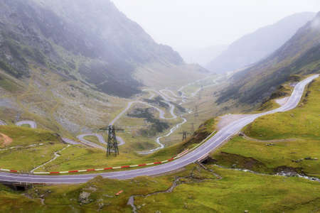 Transfagarasan mountain road 스톡 콘텐츠