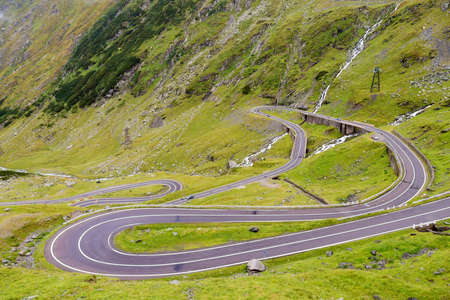 Transfagarasan mountain road 写真素材