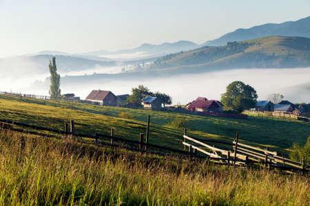 Summer sunrise in Bucovina, Romania