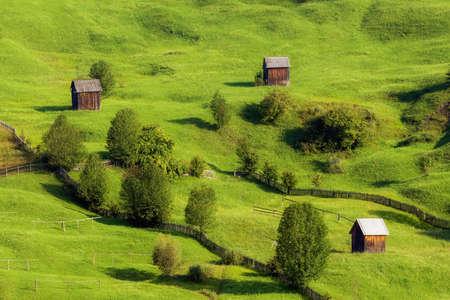 Sommersonnenaufgang in der Bukowina, Rumänien Standard-Bild