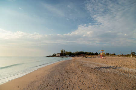 Aerial view of the Black Sea, at Eforie - Romania 写真素材