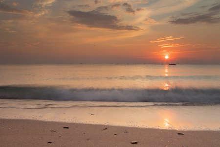 Beautiful sunrise at the Black Sea, Romania Stockfoto