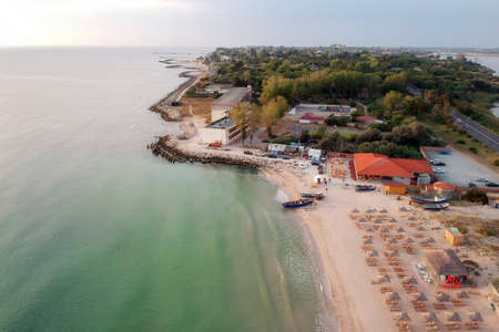 Aerial view of the Black Sea, at Eforie - Romania Stockfoto