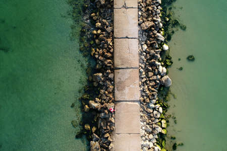 Aerial view of the Black Sea, at Eforie - Romania Stockfoto - 108428596