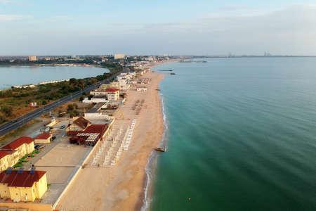 Aerial view of the Black Sea, at Eforie - Romania Stockfoto