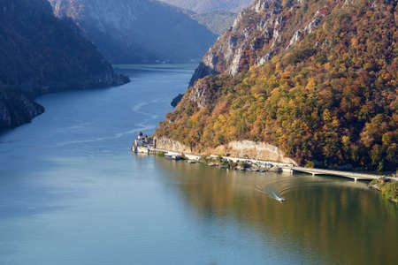 Autumn landscape of the Danube Defile