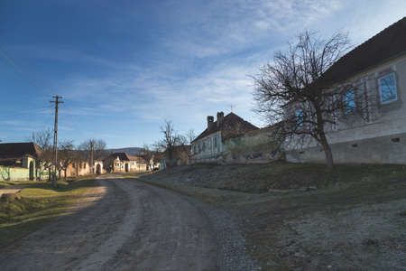 Gherdeal abandoned village, in Transylvania 写真素材 - 125307890