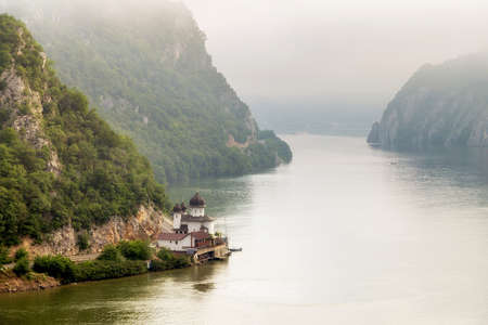 landscape in the Danube Gorges Cazanele Mari