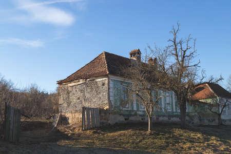 Village abandonné de Gherdeal, en Transylvanie Banque d'images