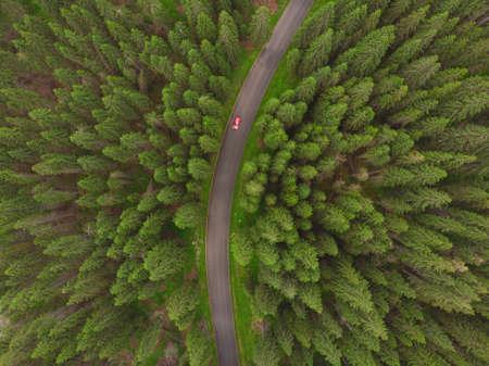Aerial view of Transalpina mountain road, Romania