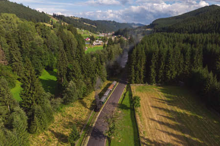 Steam Train in Bucovina