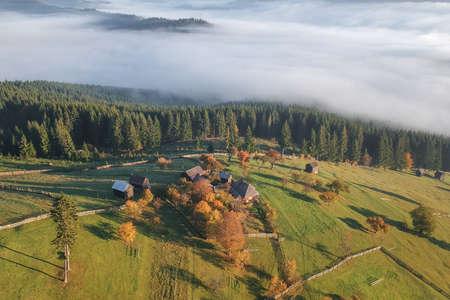 Mountain landscape in Bucovina, Romania