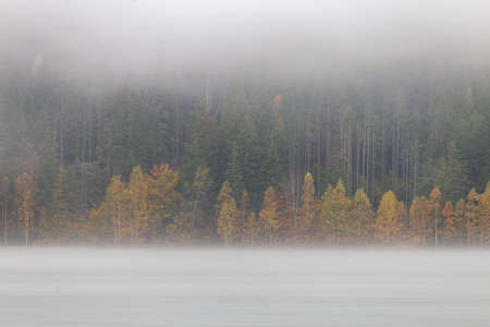 Autumn landscape at St. Ana Lake, in the heart of Transylvania, Romania