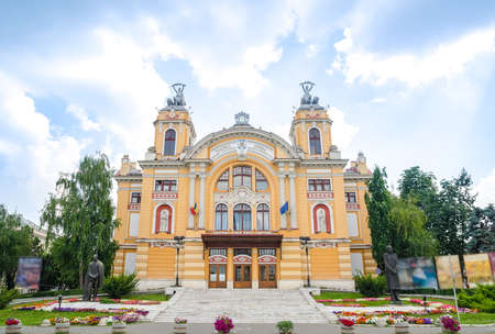 atraction: Cluj-Napoca National Theatre and Opera House in the center of the city built in 1906 in a neobaroque architectural style wich is an important monument part of the romanian herritage in the Transylvania region Editorial