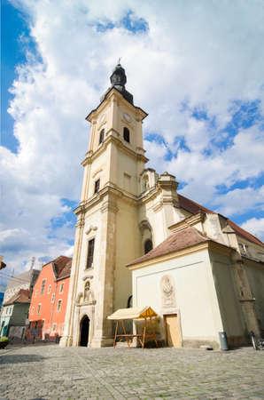 Franciscan Church in Cluj-Napoca, Transylvania, Romania Stock Photo