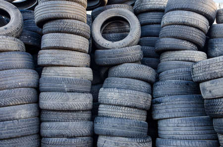 used: Used tires Stock Photo