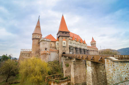 Corvinilor Castle in Hunedoara Transylvania region of Romania also called the Crovinesti Corvinestilor Huniazilor or Hunyad Castle is a neogothic fortified palace buildt during the 15 th century by Iancu de Hunedoara Editorial