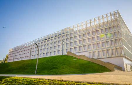 napoca: Cluj Napoca brand sports hall in central park in Transylvania region of Romania on s sunny summer day