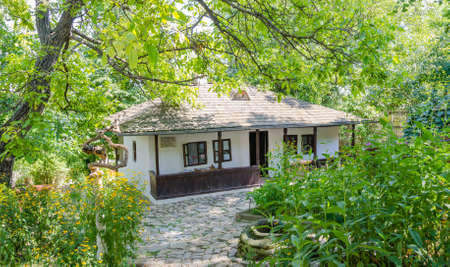 ion: IASI, ROMANIA - 10 AUGUST 2014: Romanian writer Ion Creangas small cottage house in Iasi Romania which is now a museum