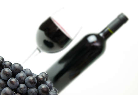 Grapes and wine for a menu background