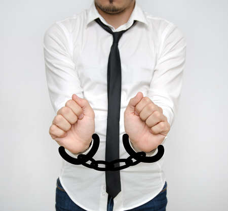 Business man handcuffed for economic fraud