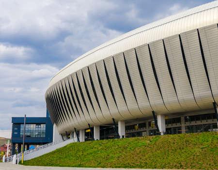 cluj: Detali of modern sports stadium