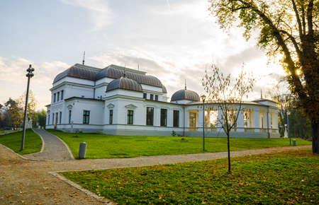 restauration: Baroque Casino in Central Park of Cluj Napoca Transylvania region of Romania with a historic monumental architectural look Editorial