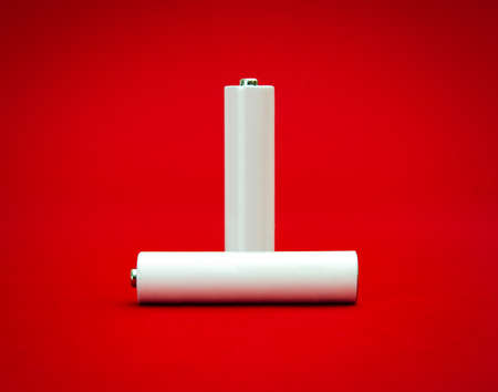 suggested: Important power source suggested by two white recheargeable batteries with room for text on them