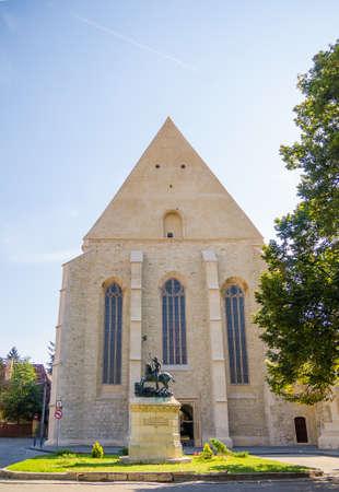 Reformed Church on Kogalniceanu Street in Cluj Napoca, Transylvania region of Romania. A beautiful gothic Church on the former Wolfs street