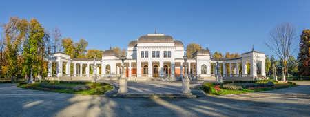 cluj: Cluj Napoca Central Park Casino, a culture and arts urban center in the heart of the city in the Transylvania region of Romania Stock Photo
