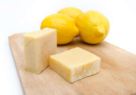 Home made soap with lemon scent