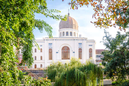 9 September 2016 - Oradea, Romania: The Neolog Synagogue Zion, a jewsih temple built during the 19th century now running as a museum with a monumental beautiful look Editorial