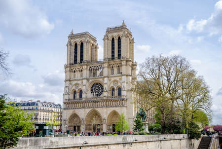 Notre-Dame Roman Catholic Cathedral in Paris, a wonderful gothic church renowed for it's architectural beauty and a world wide tourist attraction