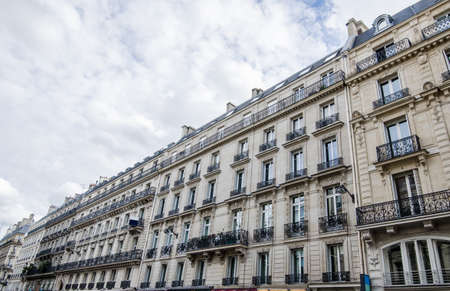 Generic historic buildings in Paris with a artistic local architectural look in this wonderful European tourist attraction
