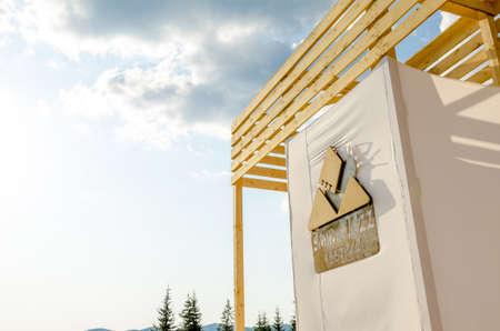 Smida, Romania - 26.08.2017: Smida Jazz Festival logo on a sunny bright day during summer Editorial