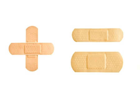 Set of Adhesive first-aid bandages  Stock Photo