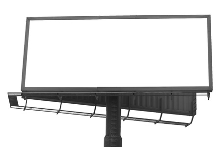 Blank mega billboard isolated on white background