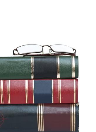 Glasses on books  photo