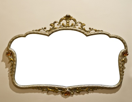 Antique mirror on grunge wall Stock Photo - 10808490
