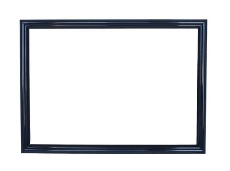 Black antique frame on white background